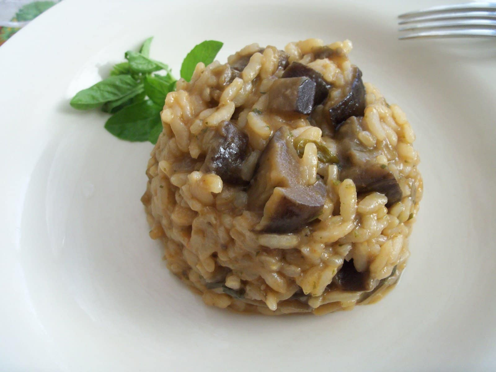 Risotto with eggplant is a recipe that would delight even those who don't normally eat eggplants.