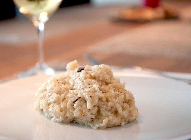 Risotto with orange duck has all the proteins you need for the day.